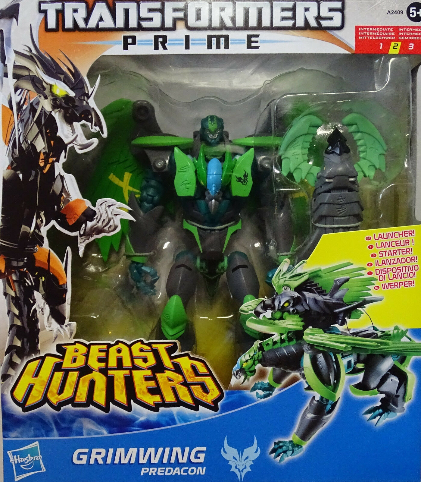 HASBRO ® a2409 TRANSFORMERS BEAST HUNTERS Prime Voyager Class Predacon grimwing