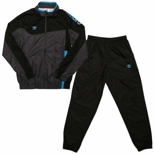 Junior Boys Umbro Division Lined Tracksuit In Black Jacket: Zip Fastening