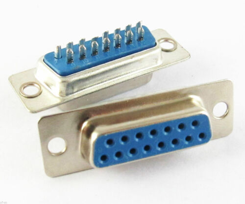 100pcs 2 Rows DB15 D-Sub 15pin Female Solder Serial Port Connector for PC Use