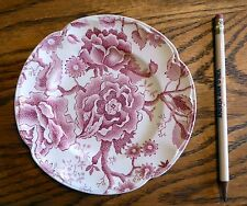 """Johnson Brothers English Chippendale Vintage China Pink Red DESSERT  6 1/4"""" EUC"""