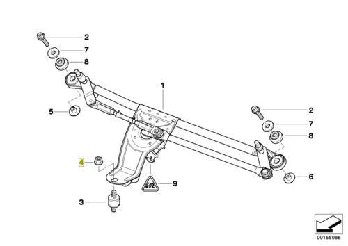 BMW 13mm Hex-Testa Flangia auto-Dado di Bloccaggio M8x1.25mm 07147185682
