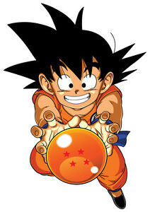 STICKERS AUTOCOLLANT TRANSPAR.POSTER A4 MANGA DRAGON BALL Z KID GOKU CRISTAL BAL