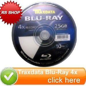 3-Traxdata-Blu-Ray-4x-Printable-Blank-25GB-Disk-130m