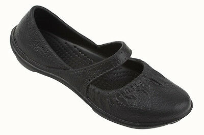 Women's Waterproof Mary Jane Slip On Fashion Bow Ballet Flats Clog Shoes, Sizes