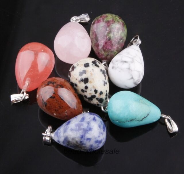 5/50pcs Baked Porcelain Drops Charms Pendants for Jewelry Making U Pick