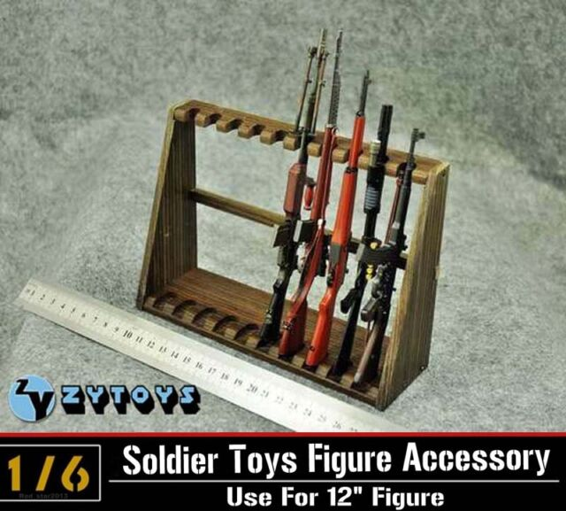 ZY Toys 1/6 Scale Display Weapon Stand Shelf for Long Rifle figure(Not Weapon)
