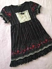 AXES FEMME Lace Rose Black Dot Dress Women's S~M Japan Gyaru Lolita Liz Lisa
