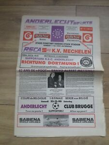Rsca Journal Anderlecht Sports 1990-91 Organe Officiel Valeur Formidable