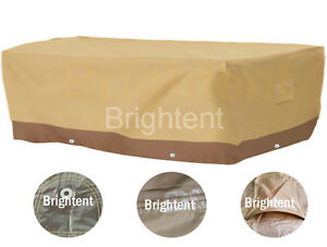 Image Is Loading Deluxe Heavy Duty Waterproof Furniture Cover Rectangle  Patio