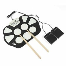 7 Pads MIDI Electric Roll Up Drum Set Battery/ USB Powered