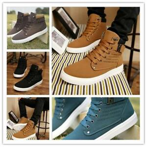 Chic-Casual-Men-039-s-Tennis-Shoes-Fashion-Spring-Fall-Canvas-Shoes-Sneakers-Boots-B