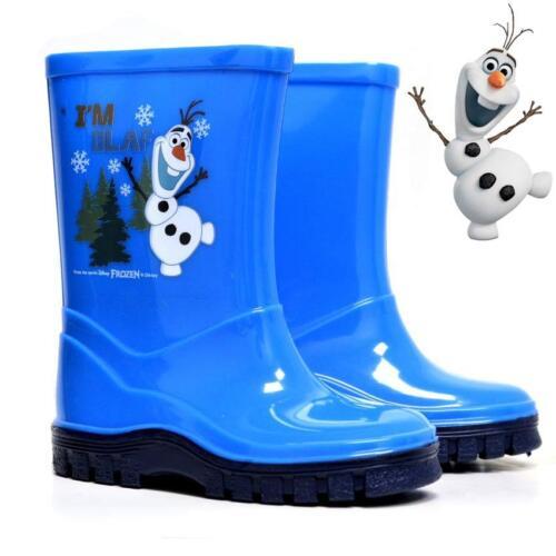 Boys Girls Olaf Wellingtons Wellies Rain Mucker Snow Waterproof Boots Shoes Size