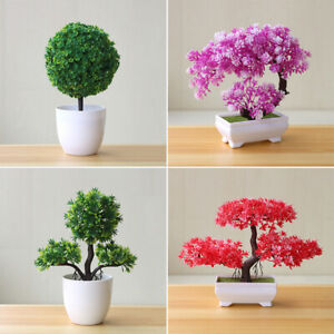 Artificial-Plants-Bonsai-Small-Tree-Pot-Fake-Flowers-Potted-Ornaments-Decoration