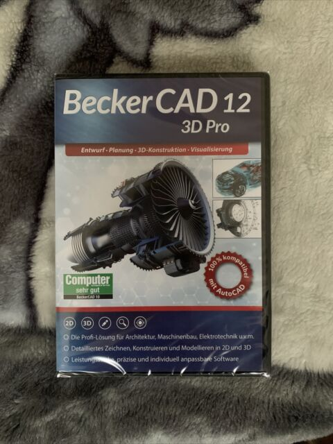 BeckerCAD 12 3D PRO Vollversion, 1 Lizenz Windows CAD-Software OVP