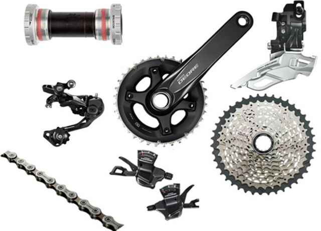 bd00a57c9e5 New SHIMANO Deore M6000 2x10 Speed MTB Groups Groupset 7 pcs 42T 175MM