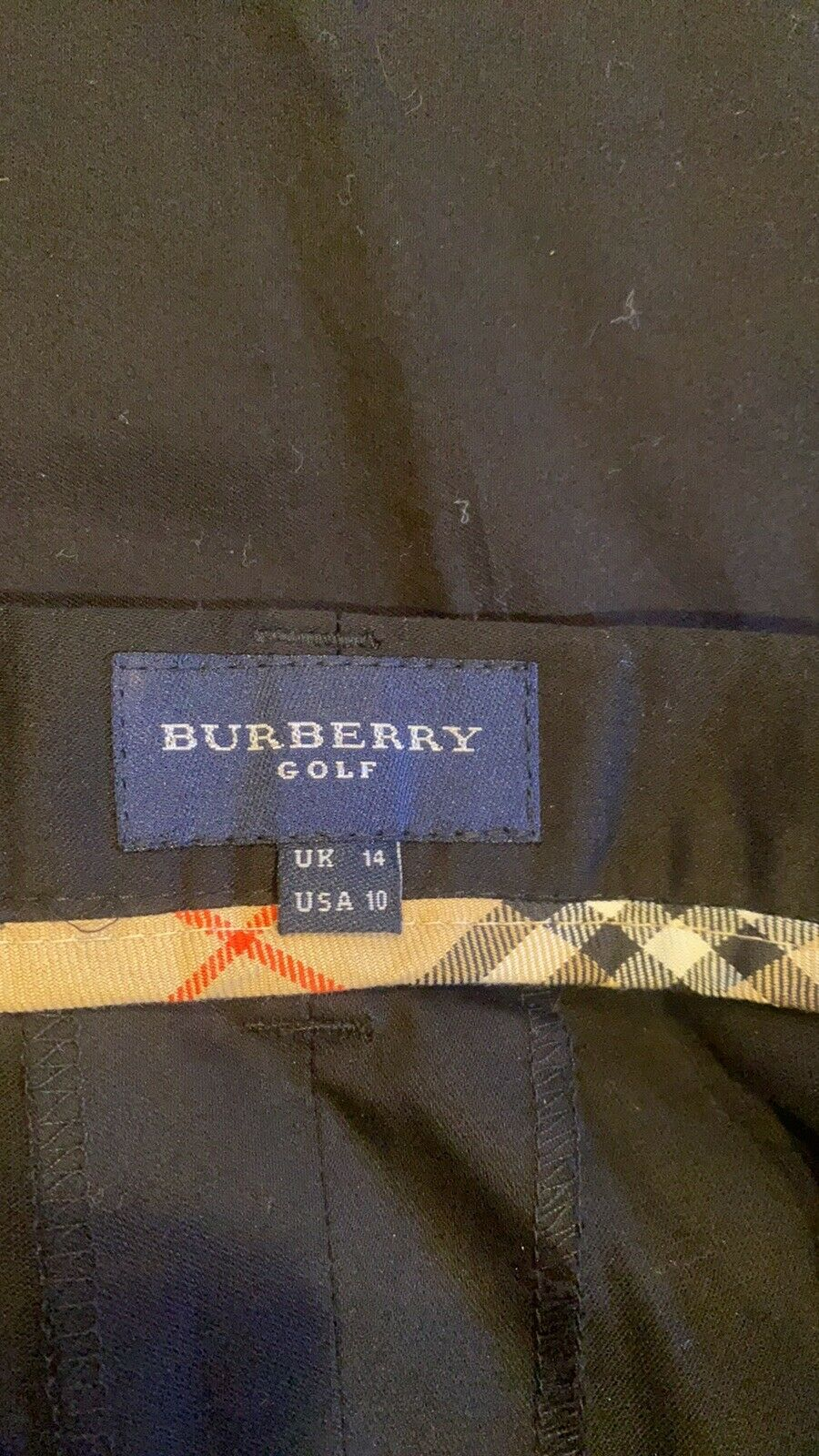 BURBERRY GOLF FABULOUS SHORTS TAILORED BLACKWITH … - image 9