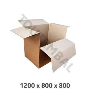 Container Carton Double Cannelure 1200 X 800 X 800 Mm DernièRe Mode