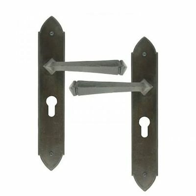 ATC1 ANVIL 33269 BEESWAX GOTHIC LEVER EURO LOCK SET TRADITIONAL PERIOD