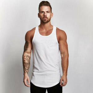 9f9f0f6e7e1f2 Image is loading Men-039-s-Breathable-Muscle-Bodybuilding-Stringer-Quick-