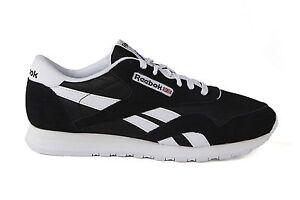 Image is loading Reebok-Junior-Classic-Nyon-Black-White-J21506-Sizes- 70c8f4350