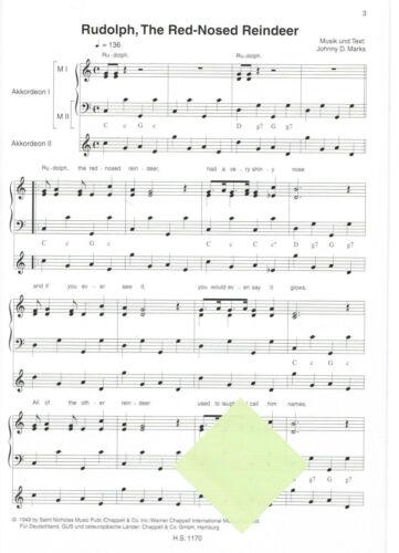Christmas Pop Classics leichte Mittelstufe WEIHNACHTEN Akkordeon Noten