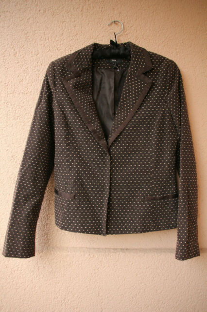 Brauner, gepunkteter Damen Blazer von H&M, Größe 38 | eBay