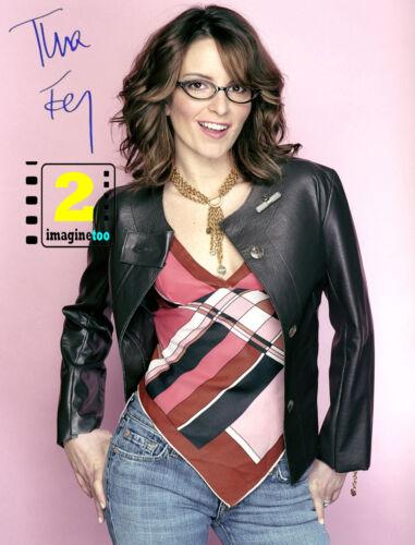 "Tina Fey 8""x 10"" Signed Color PHOTO REPRINT"