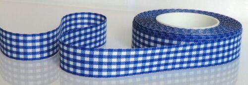 Karo banda 25m x 23mm azul-blanco Vichy a cuadros dekoband bucles de cinta 1m = 0,28 €