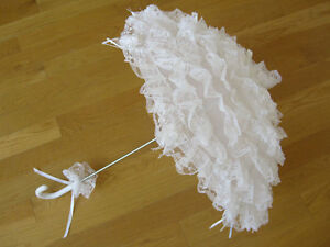 Gothic-Lolita-Layer-Lace-Umbrella-Parasol-EGL-Punk-Wedding-Cosplay-White-Rose