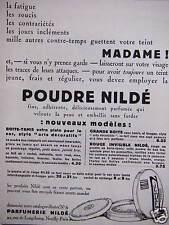 PUBLICITÉ LA POUDRE NILDÉ POUR AVOIR TOUJOURS UN TEINT JEUNE FRAIS ET RÉGULIER