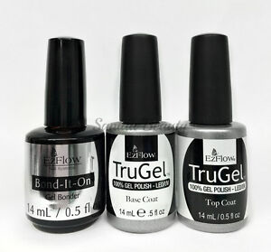 EZFlow-TruGel-100-Gel-LED-UV-Nail-Polish-0-5oz-Choose-any-Bond-Base-Top