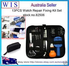 13PCS Watch Repair Fixing Kit Set Opener Link Remover Pin Screwdriver Tweezer