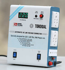 BHASIN PACKARD TOROIDAL AUTOMATIC AC LINE VOLTAGE STABILIZER for LED/LCD TVs