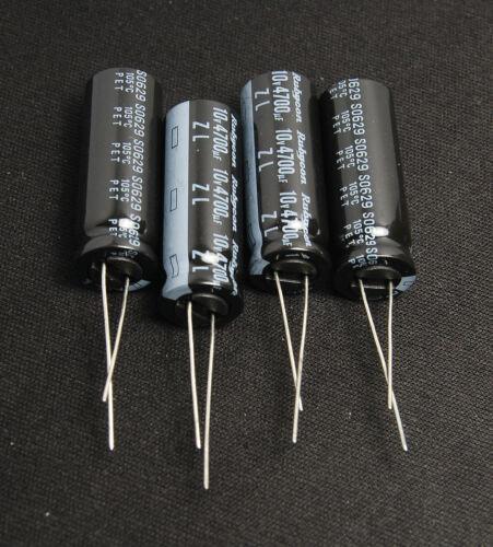 4pcs- 4700uf 10v Rubycon Electrolytic Capacitor 10V4700uf />/>Upgrade 6.3v4700uf