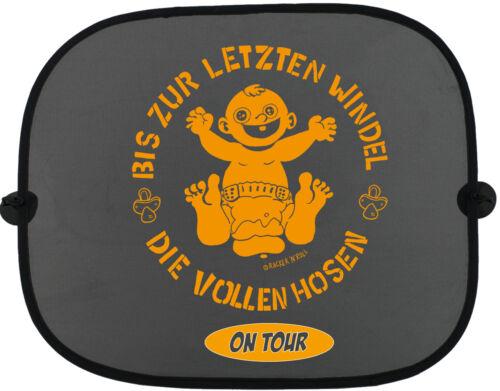DIE VOLLEN HOSEN ON TOUR Orange Kinder Auto Sonnenschutz