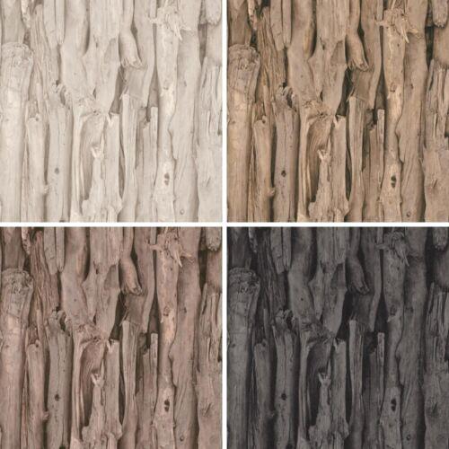 Nouveau Rasch tree bark pattern réaliste Faux Effet Papier peint mural photographique