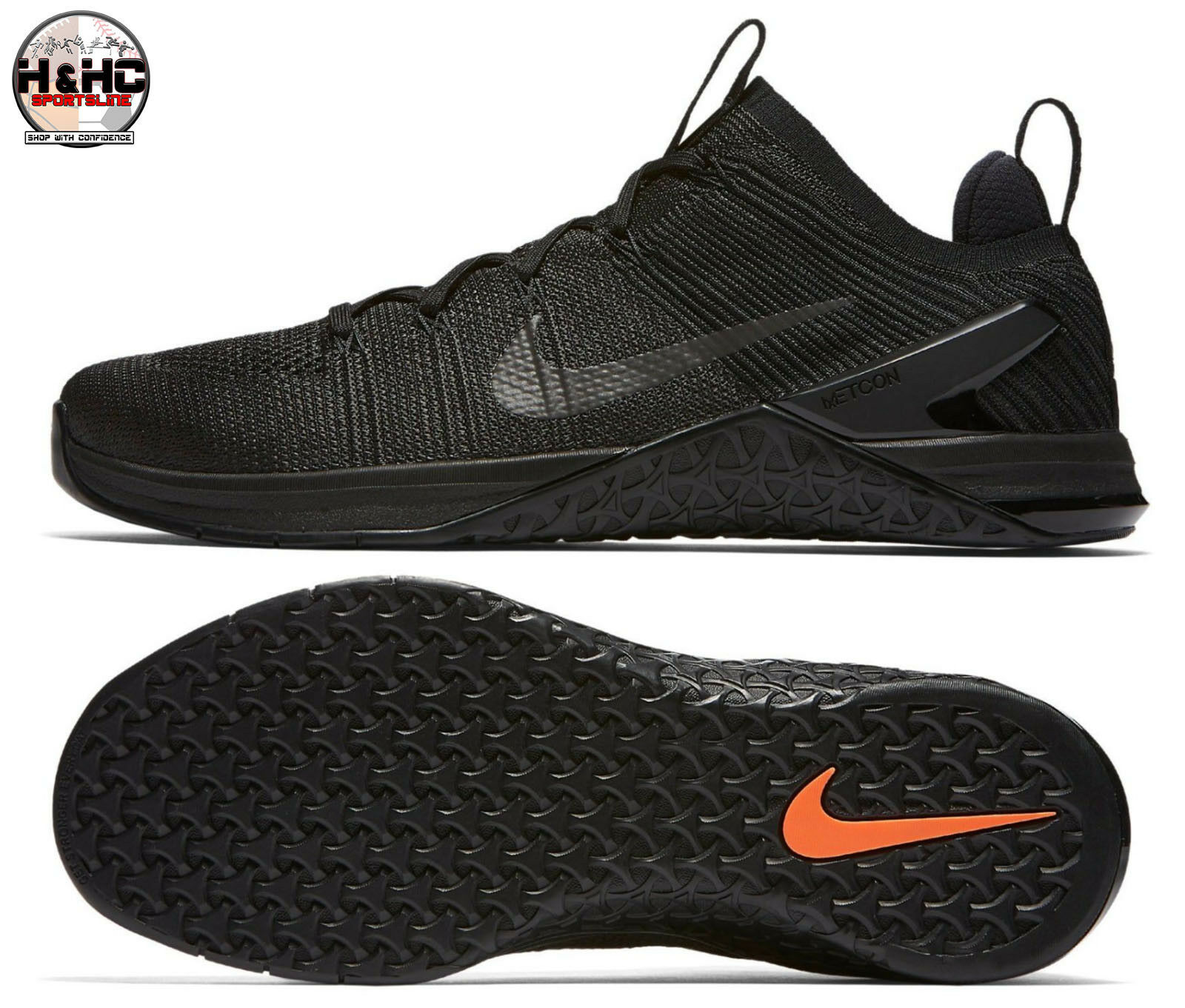 Nike Metcon DSX Flyknit 2 Black 924423 004 Men Training Weightlifting Shoe Sz 11