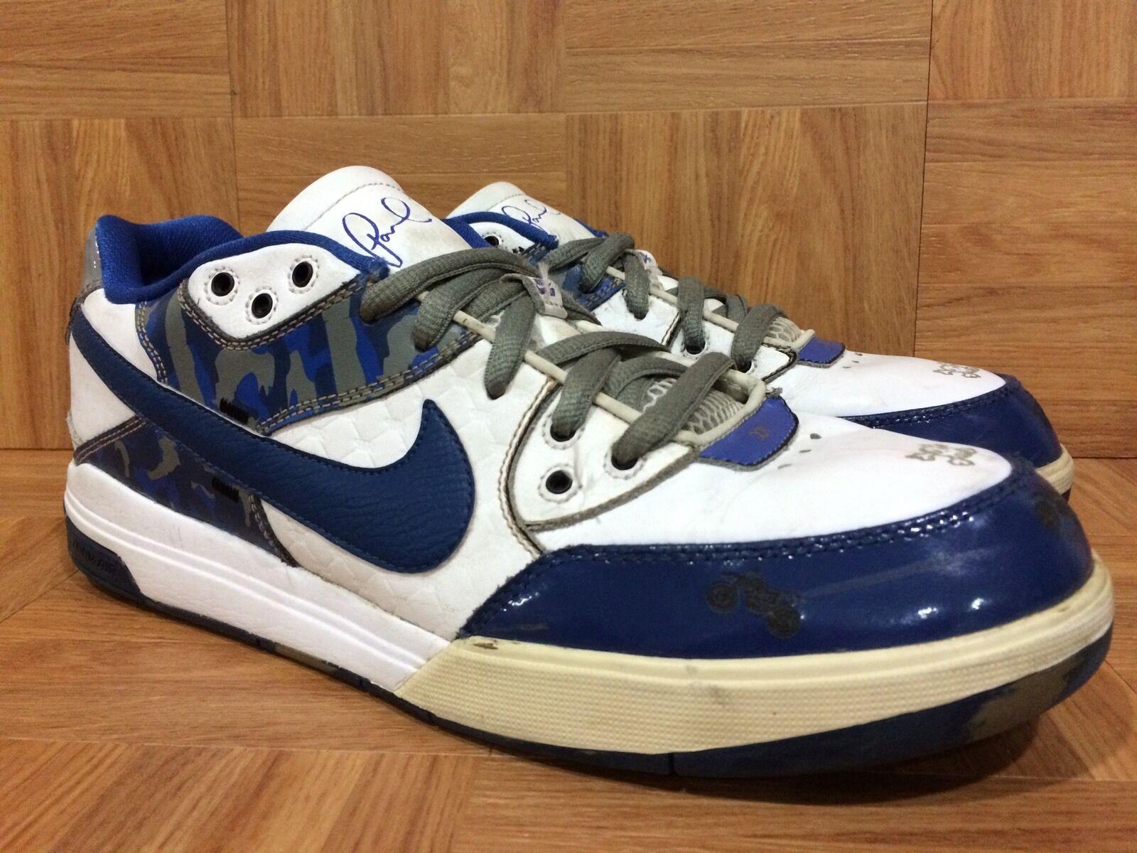 RARE  Nike Zoom Paul Rodriguez 3 White Doernbecher Blue Camo 392790-100 Sz 11.5