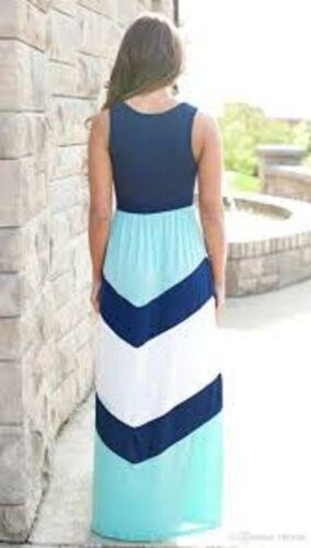 Mother /& Daughter Blue Stripe Dress Matching Dresses Girls Ladies