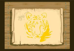 Majestic-Tiger-Face-Stencil-350-micron-Mylar-not-thin-stuff-Tiger011