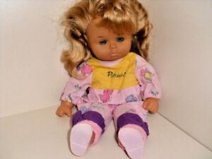 Susse Baby Puppe Schlenkerpuppe Madchen 35 Cm Schlafaugen Rotblonde