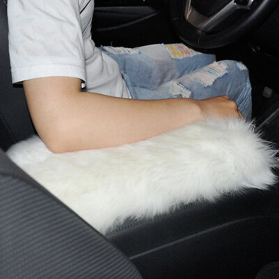Beige Auto Armlehnenkonsole Kissen Fall Soft Pad Cover Für VW Audi BMW Mazda
