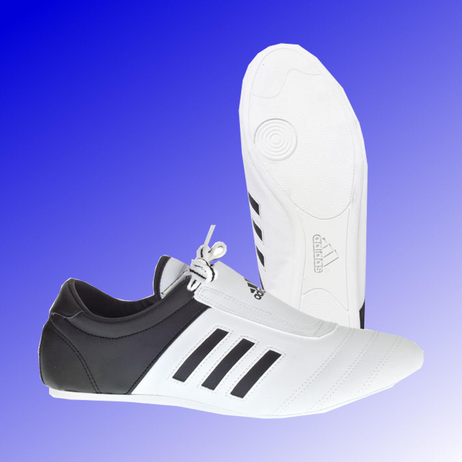 Adidas® Adi Kick I Taekwondo TKD Schuhe Sneaker Slipper weiß schwarz Gr. 36 - 46