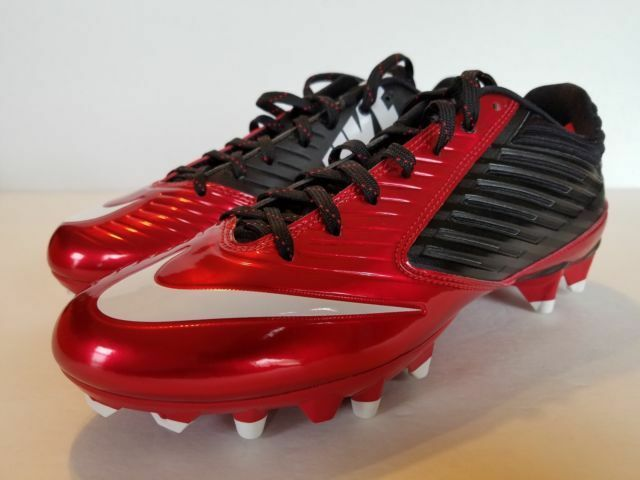 2acb83f065c Nike Game Red white-black Vapor Speed Low TD Football Cleats Shoes Men 10  44 for sale online