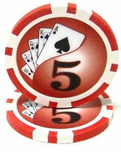 NEW 100 Yellow $1000 Ace Casino 14 Gram Clay Poker Chips Buy 2 Get 1 Free