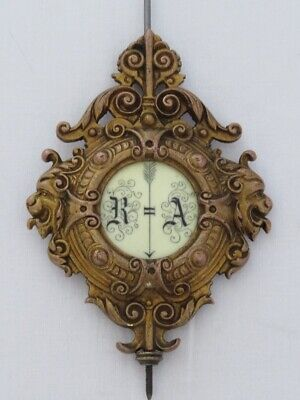 The top lath to the antique clock Gustav Becker