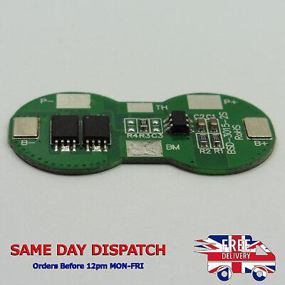 Placa de protección de batería de litio de 2 celdas módulo 2A 7.4V BMS PCB 2S Pack 18650 Z54