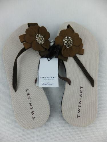 Avec Barbieri Brown Nouveau Twin Sandal Set 38 Simona étiquette Thong wgPgCq