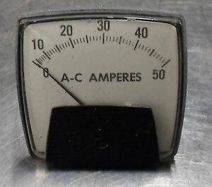 Ram Meter AC Motor Load Analog Panel Meter, 0-50, Model 250, Used, WARRANTY