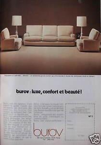 1975 ad luxury burov sofa armchair beauty and comfort